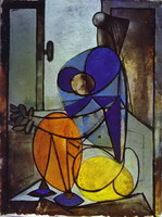 Pablo Picasso. Young Girl in an Armchair