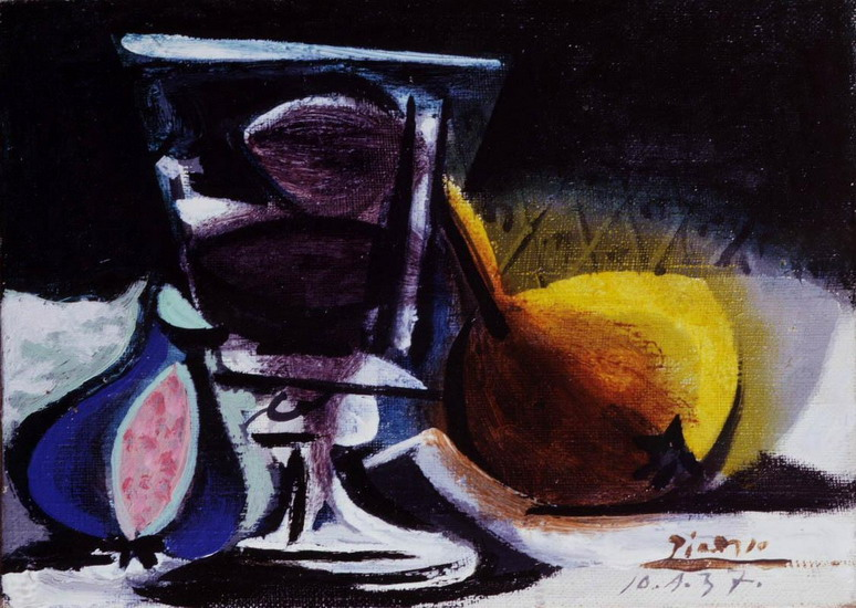 Pablo Picasso. Still life with glass, 1937