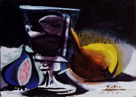 Pablo Picasso. Still life with glass