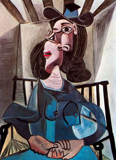Pablo Picasso. Woman with a hat sitting in a chair (Dora Maar), 1941