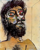 Pablo Picasso. Head of a bearded man