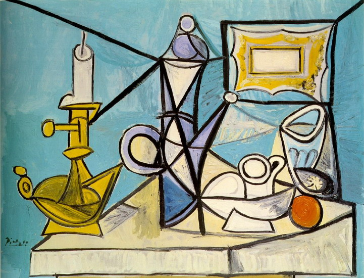 Pablo Picasso. Still Life with Candlestick, 1944