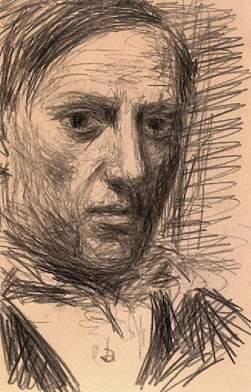 Pablo Picasso. self-portrait, 1901