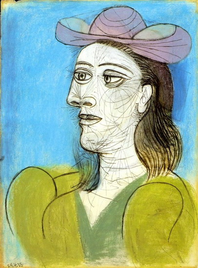Pablo Picasso. Bust of Woman with Hat, 1938