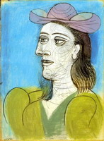 Bust of Woman with Hat