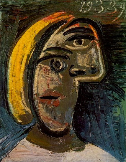 Pablo Picasso. Woman head with blond hair (Marie-Therese Walter), 1939