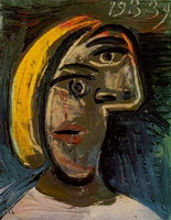 Woman head with blond hair (Marie-Therese Walter)