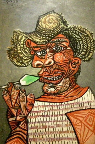 Pablo Picasso. Man with lollipop, 1938