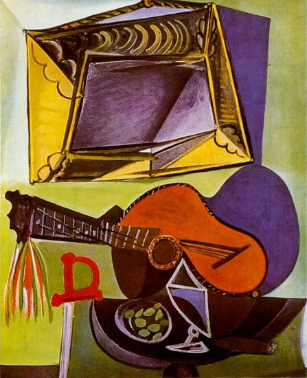 Pablo Picasso. Still Life with Guitar, 1918