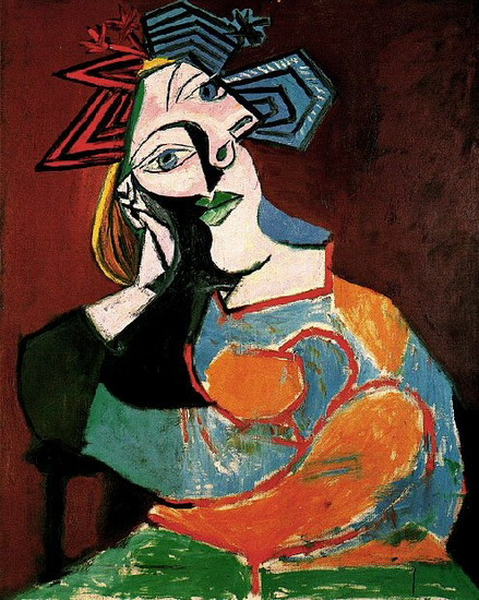 Pablo Picasso. Woman leaning, 1937
