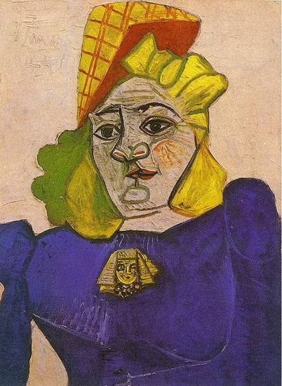 Pablo Picasso. Woman pin sphinx head, 1944