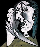 Pablo Picasso. Weeping Woman with handkerchief