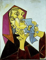 Pablo Picasso. Weeping Woman with handkerchief III