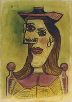 Pablo Picasso. Head of a Woman with Hat