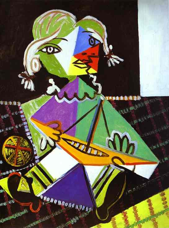 Pablo Picasso. Girl with a Boat (Maya Picasso), 1938