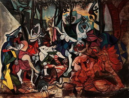 Pablo Picasso. According to operative Bacchanales- Triumph of Pan Chick