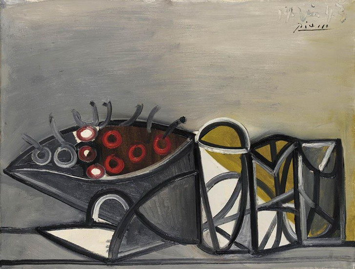 Pablo Picasso. Still Life with Fruit Dish, 1936