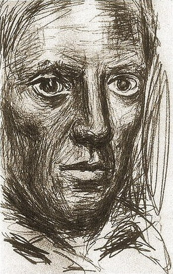 Pablo Picasso. self-portrait, 1917
