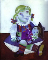 Portrait of Maya with her Doll