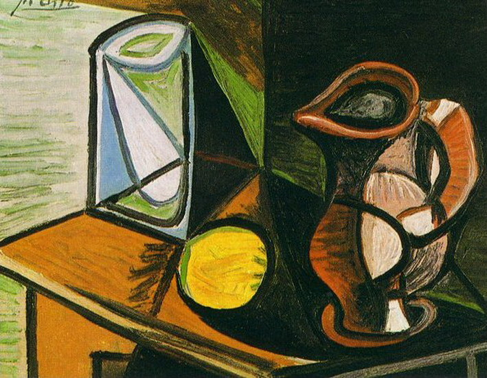 Pablo Picasso. Glass and pitcher, 1944