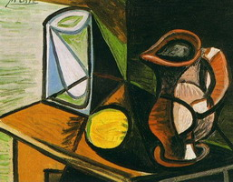 Pablo Picasso. Glass and pitcher