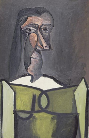 Pablo Picasso. Female bust, 1922