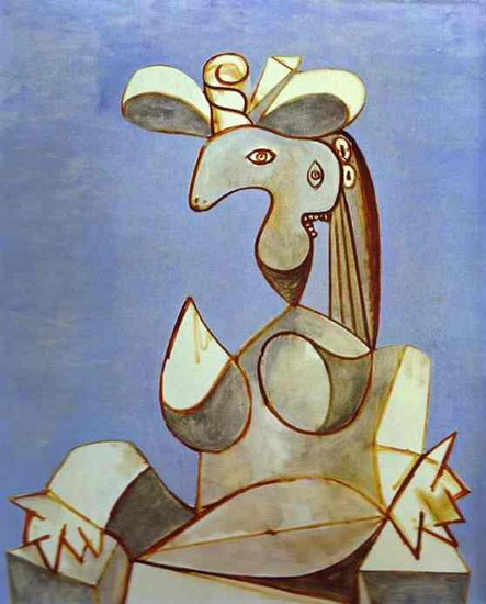 Pablo Picasso. Seated Woman with Hat, 1939