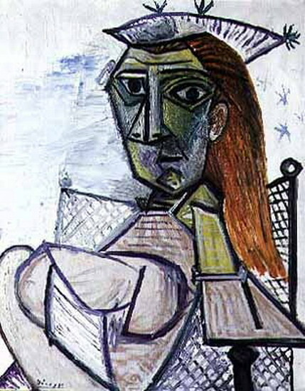 Pablo Picasso. Woman sitting in an armchair, 1941
