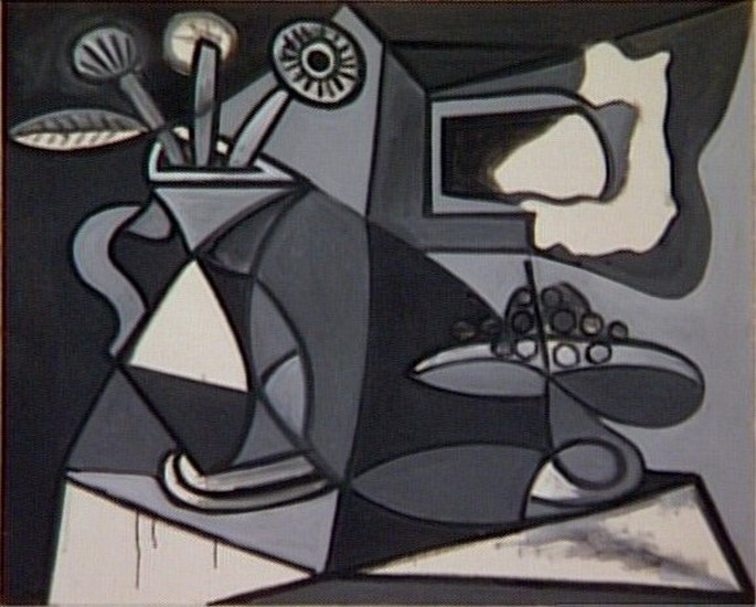 Pablo Picasso. Vase of flowers and fruit bowl, 1943