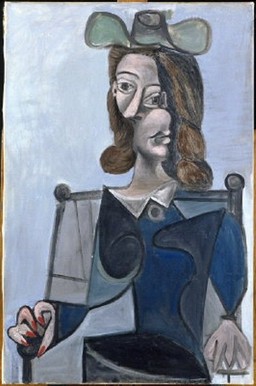 Pablo Picasso. Bust of a Woman with a hat bleubis, 1944