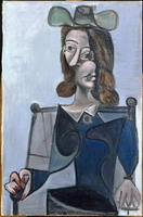 Pablo Picasso. Bust of a Woman with a hat bleubis