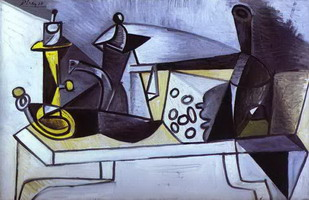 Pablo Picasso. Still life with cheese