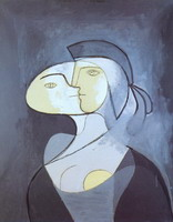 Pablo Picasso. Marie-Therese - front and profile, 1931