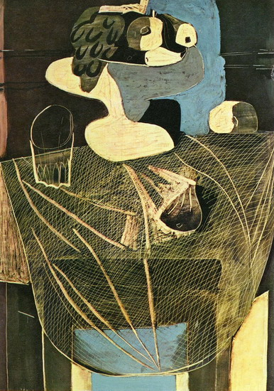 Pablo Picasso. Still life with fishing net, 1925