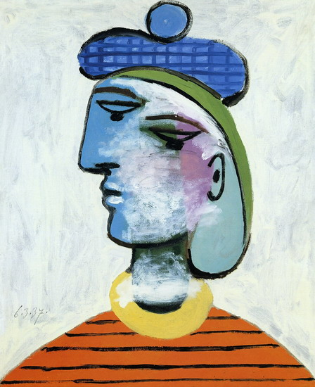 Pablo Picasso. Marie-herese with a blue beret [woman portrait], 1937