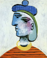 Pablo Picasso. Marie-herese with a blue beret [woman portrait]