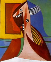 Pablo Picasso. Bust of woman portrait