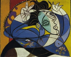 Pablo Picasso. Woman with arms leves [Head of Dora Maar]