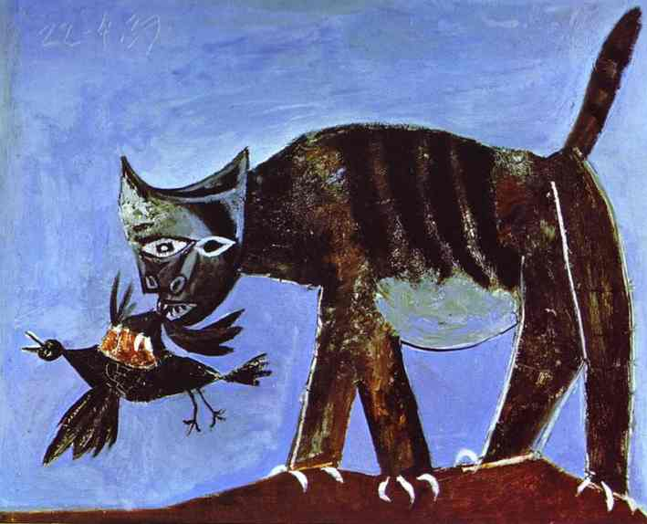 Pablo Picasso. Wounded Bird and Cat, 1939