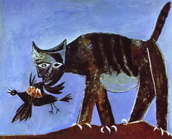 Pablo Picasso. Wounded Bird and Cat
