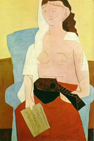 Pablo Picasso. Woman with Mandolin, 1909