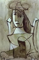 Pablo Picasso. Young Girl Struck by Sadness