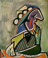 Pablo Picasso. Portrait of woman in wheelchair