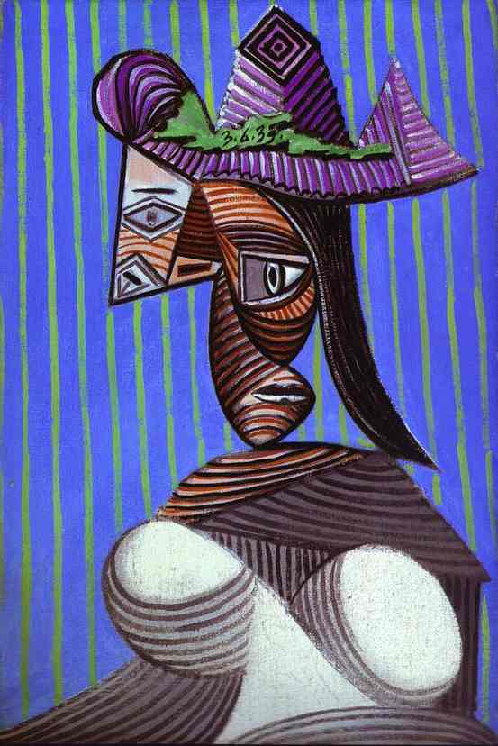 Pablo Picasso. Woman with a Stripped Hat, 1939