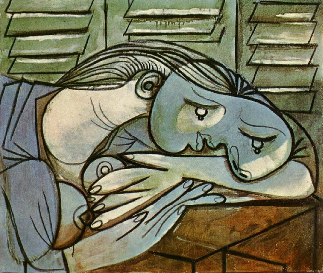 Pablo Picasso. Sleeper with shutters, 1936