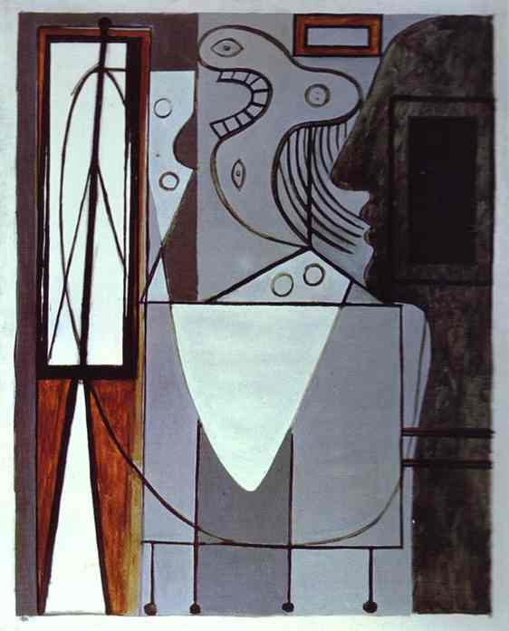 Pablo Picasso. Silhouette of Picasso and Young Girl Crying, 1940
