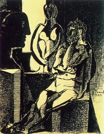 Pablo Picasso. My workshop of the sculptor, 1931
