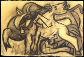 Pablo Picasso. Horse and bull