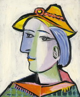 Pablo Picasso. Marie-Therese Walter with a hat