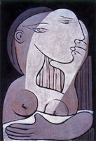 Pablo Picasso. Female bust, 1934